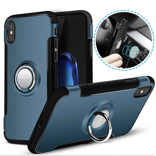Shockproof Ring Holder Car Magnet Case for iPhone X
