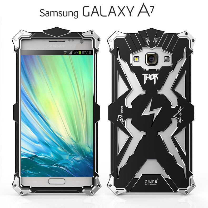 360 Protection Aviation Aluminium Materials Hollow Phone Case for SAMSUNG - KINGEOUS