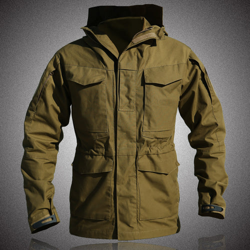 Casual Solid Color Men Outdoor Overcoat - KINGEOUS