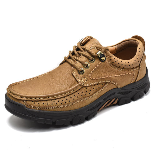 Business Casual Frosted Leather Platform Abrasion-resistant Outdoor Shoes