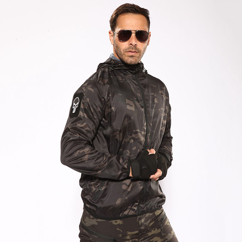 Outdoor Sports Hooded Camouflage Men's Coat