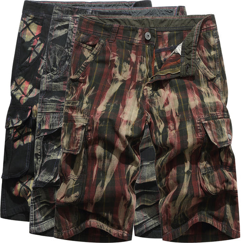 Casual Fashion Camo Multi-pocket Men's Shorts