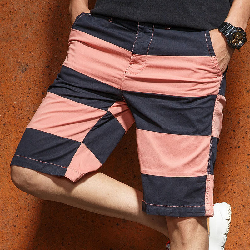 Casual Youth Fashion Print Five-point Beach Men Shorts
