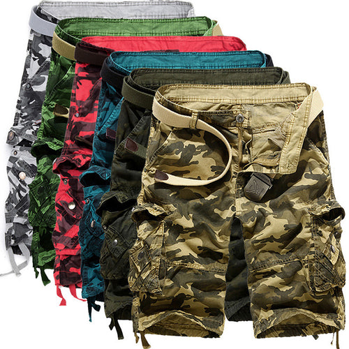 Leisure Camo Multi-Pocket Men's Cargo Shorts