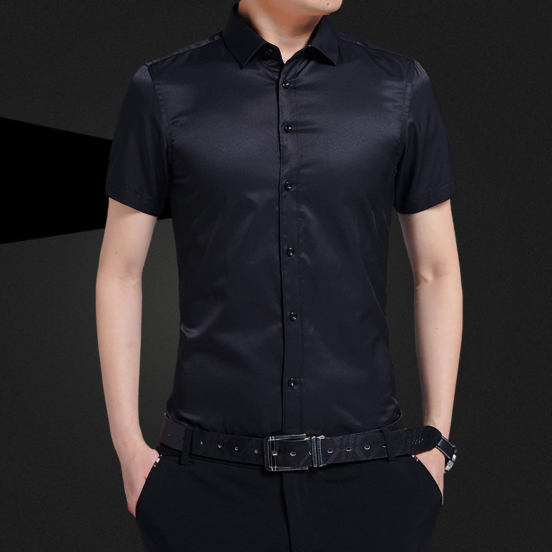 Solid Color Waterproof and Stain-proof Work Men's Shirt