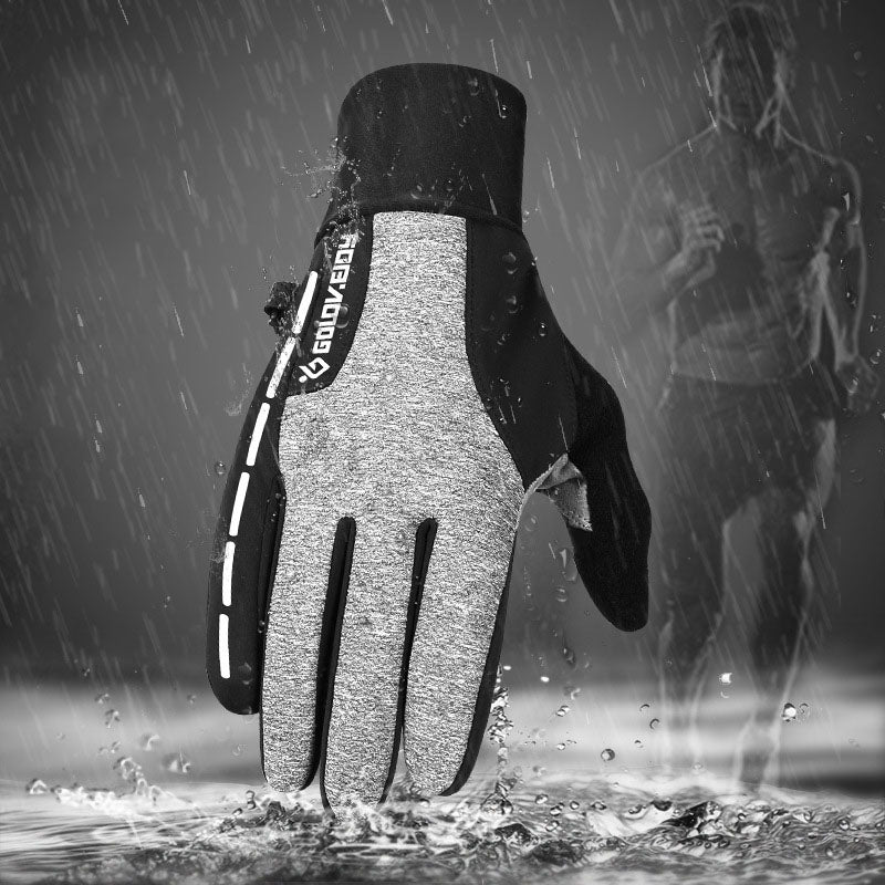 Outdoor Cycling Plus Velvet Thick Warm Men Women Gloves
