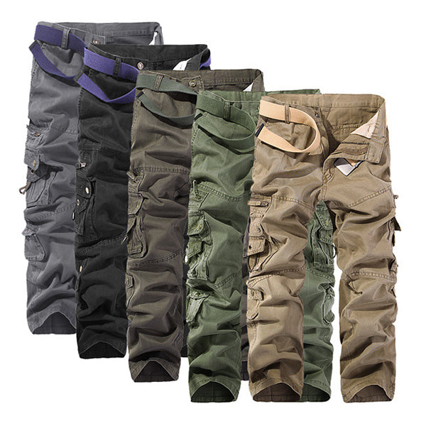 Regular Cotton Multi-Pocket Men Cargo Pants