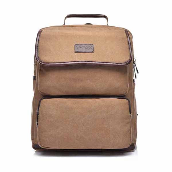 Casual Large Capacity Canvas Men's Backpack - KINGEOUS