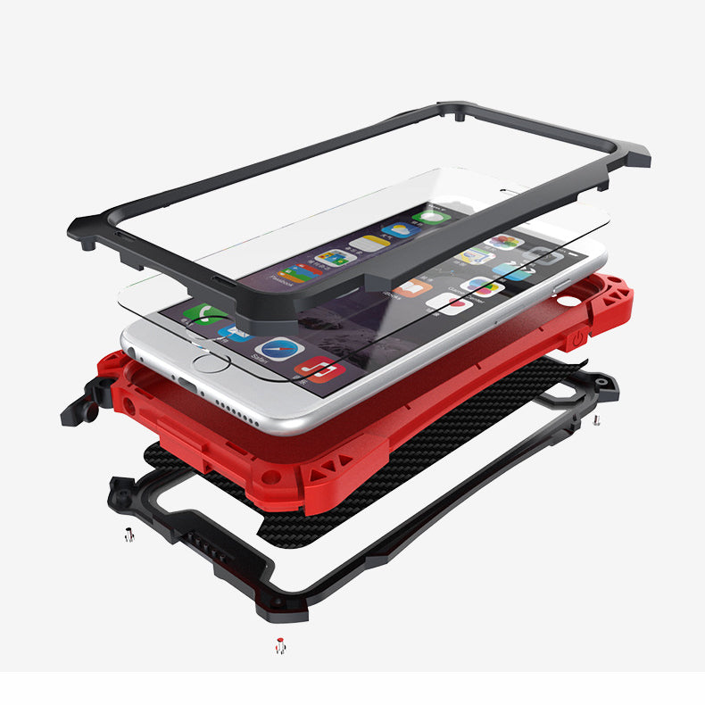 Aviation Aluminium Materials Shockproof Phone Case for Iphone 6 and 6 Plus - KINGEOUS