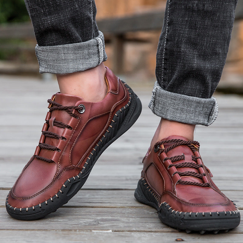 Causal Leather Plus Size Men's Shoes
