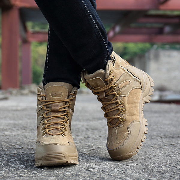 Military Motocycle Combat Safety Ankle Men's Tactics Boots