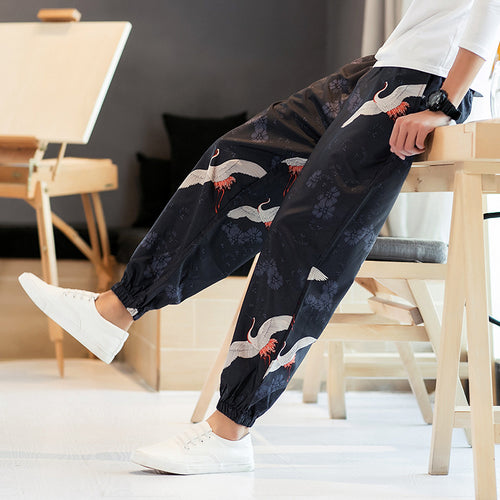 Fashion Trendy Printed Harem Men  Casual Pants