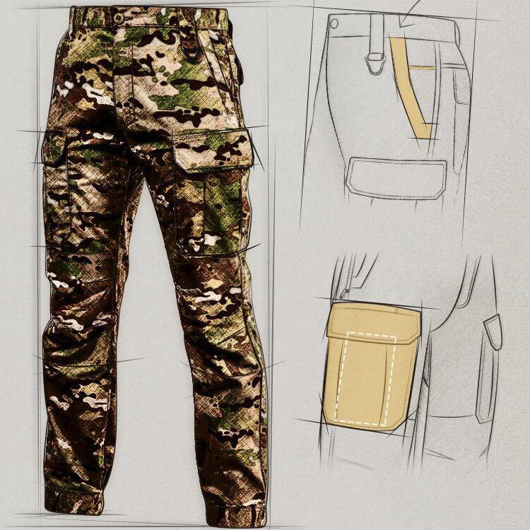 Tactical IX5 Waterproof Military Camo Pockets Men Pants