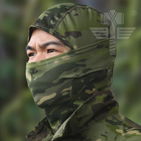 Camo Anti-terrorism Sand Prevention Riding Tactical Hood - KINGEOUS