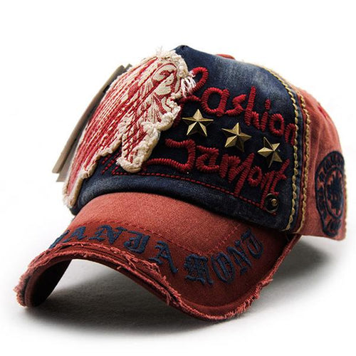 Letter Embroidered Buckle Casual Baseball Cap