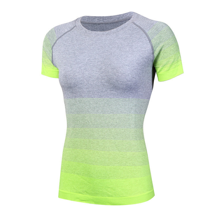 Fast Drying Round Neck Women's Sportswear T-shirt