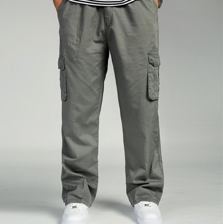 Extra Large Size Casual Loose Straight Men's Pants - KINGEOUS