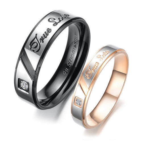 Ture Love Plating Stainless Steel Couple Rings