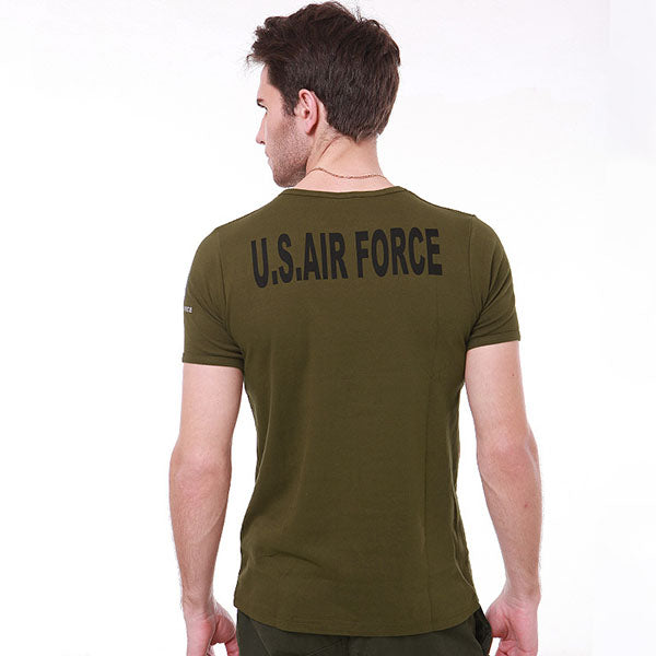 AIR FORCE Breathable Sweat-absorbent Body-building Men's T-shirt - KINGEOUS