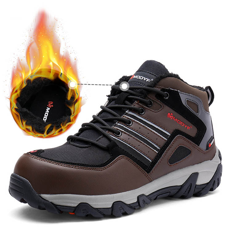 Medium-top Comfortable Ladle Head Steel Sole Anti-smashing Warm and Protective Safety Shoes