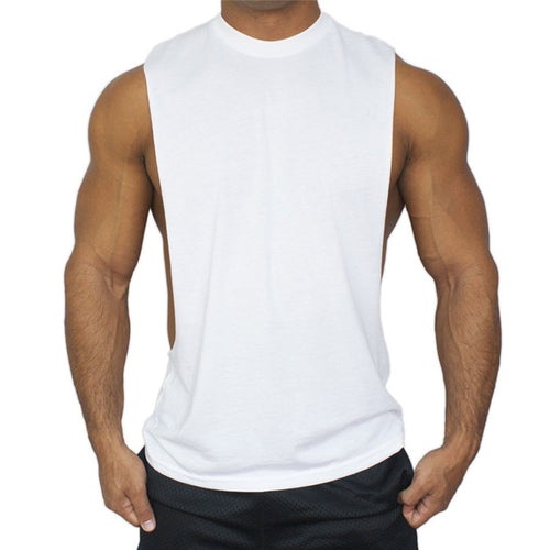 Unique Fitness Solid Color Men's Sportswear Vest