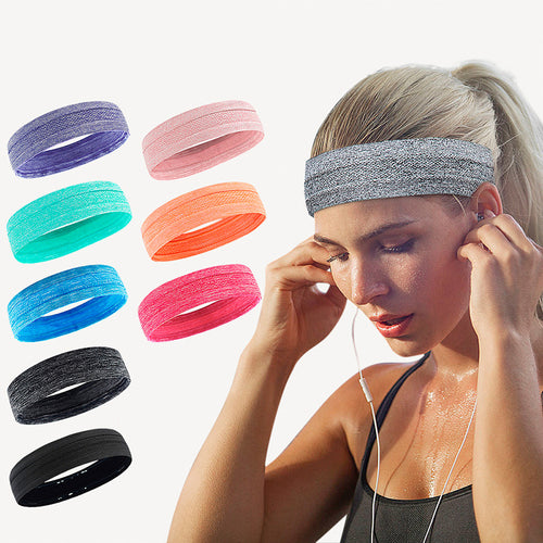 Elastic Headband Breathable Women Men Basketball Yoga Sweatband