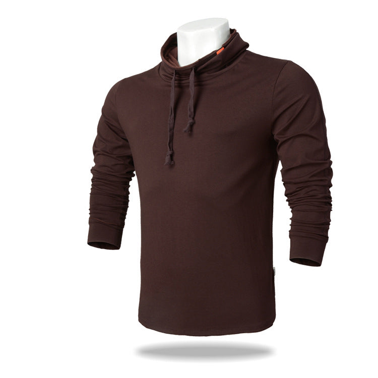 Dustproof High Collar Sports Long Sleeves Men's T-shirts - KINGEOUS