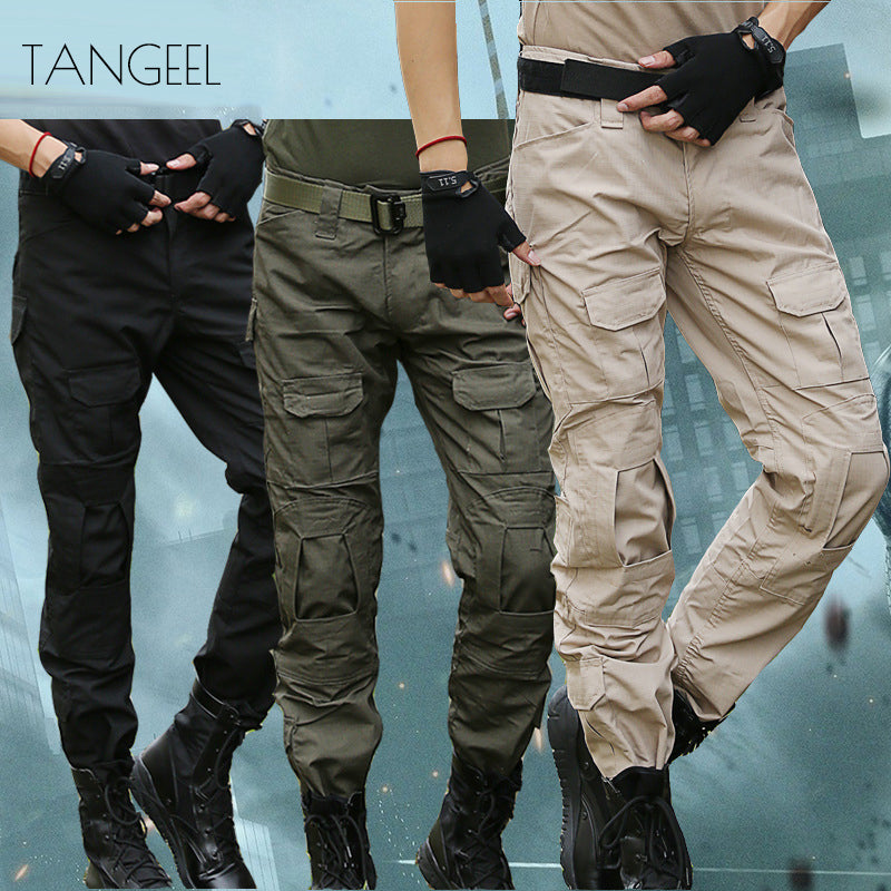 Outdoor Solid Color Tactical Pocket Men's Cargo Pants