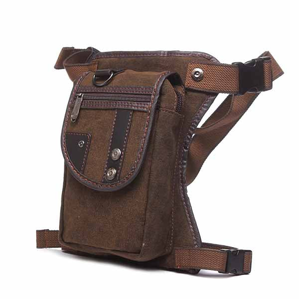 Retro Cowhide Decoration Canvas Men's Backpack