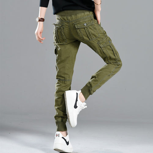 Large Size Fashion Straight Women's Cargo Pants