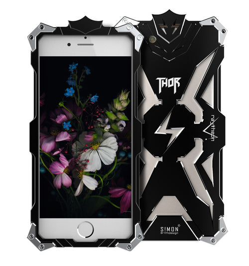 Aviation Aluminium Materials Shockproof Thor Logo Phone Case for Iphone - KINGEOUS