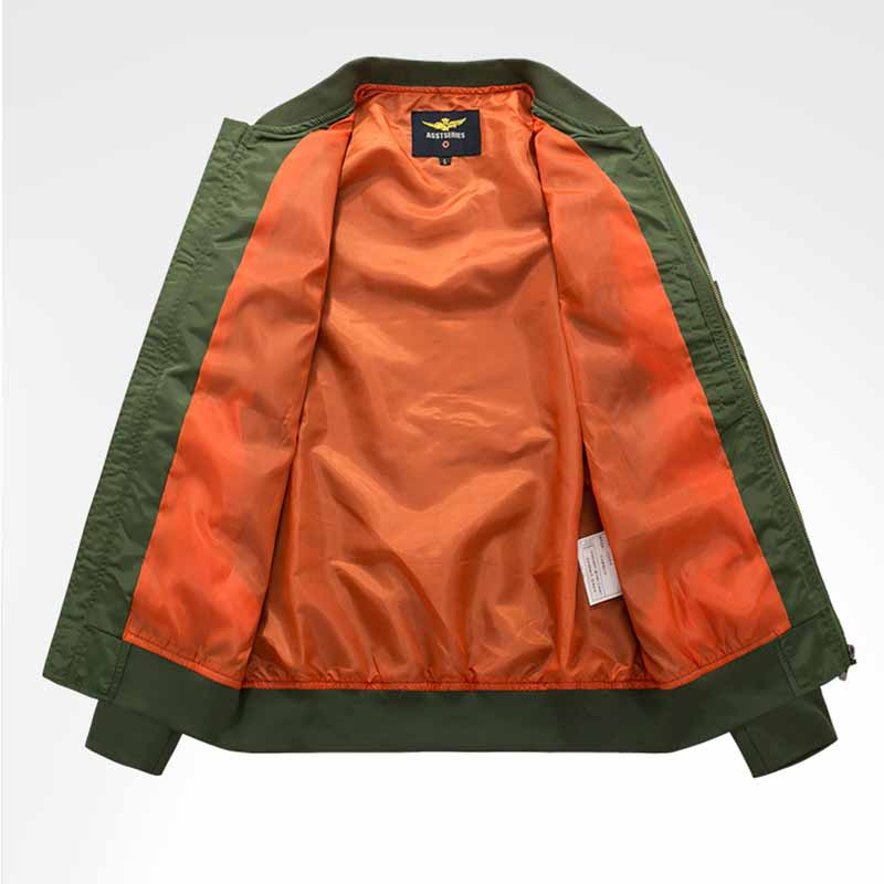 Solid Color Flight Men's Jacket