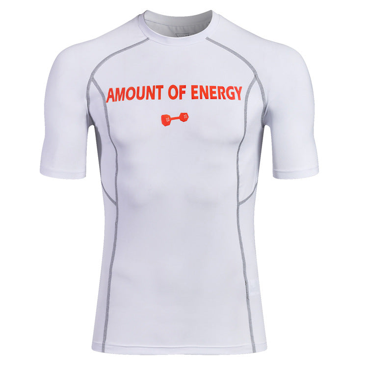 Fitness Dumbbell Printed Men's Sportswear T-shirt
