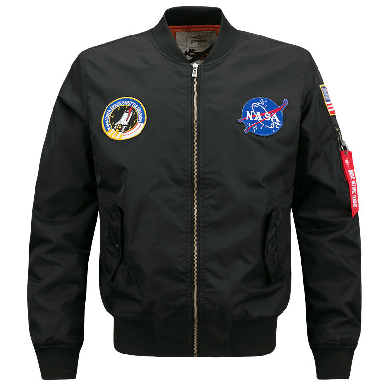 Fashion Stand Collar Casual Flight Jacket for Men