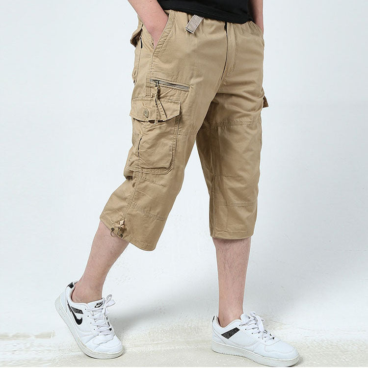 kydely Mens Cargo Shorts Casual Cotton Outdoor Lightweight with Multi Pockets