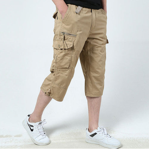 Casual Cotton Outdoor Multi Pockets Cargo Shorts - KINGEOUS