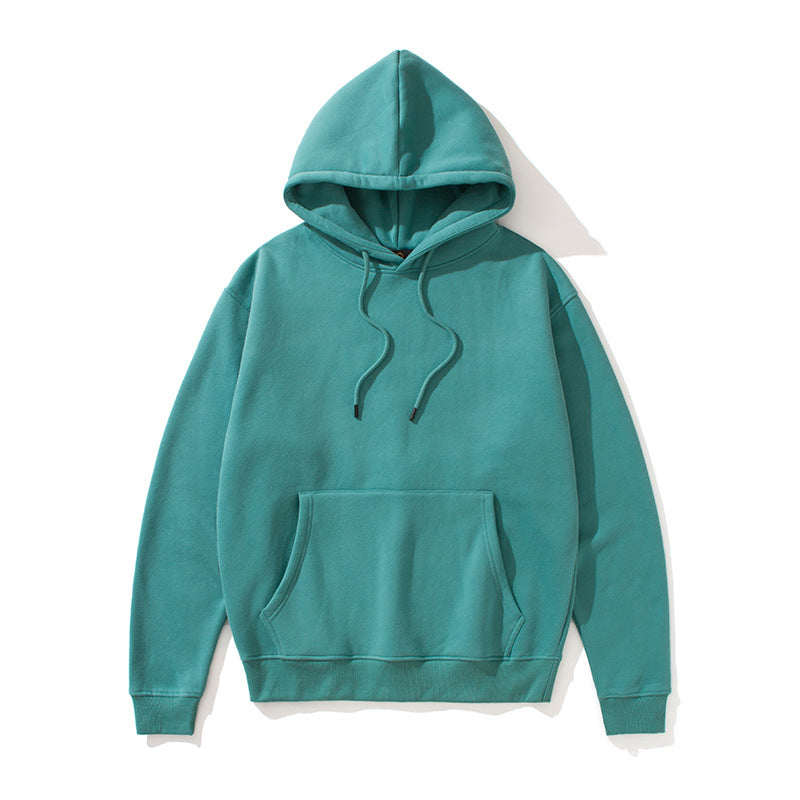 Oversize Loose Soild Color Hooded Thicken Couple Hoodie