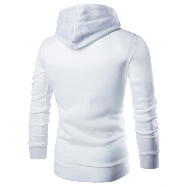 New Double Zipper Hooded  Fleece Men's Hoodie