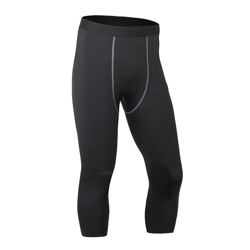 Elastic Slim Calf-Length Men's Sportswear Pants - KINGEOUS
