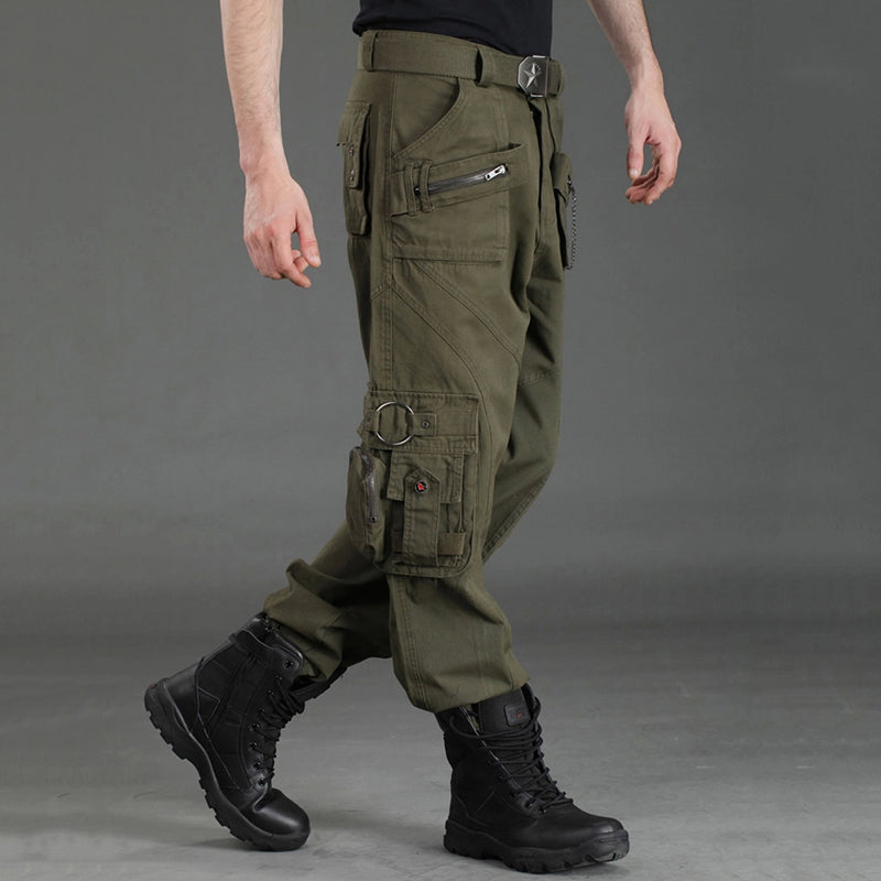 Pockets Design Outdoor Casual Cargo Men Pants