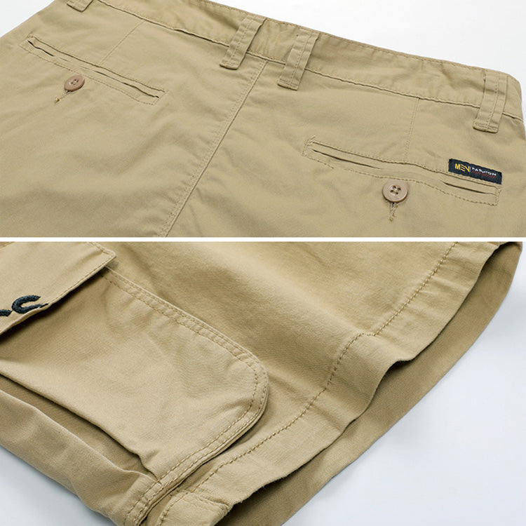 Loose Embroidered Pocket Men's Shorts