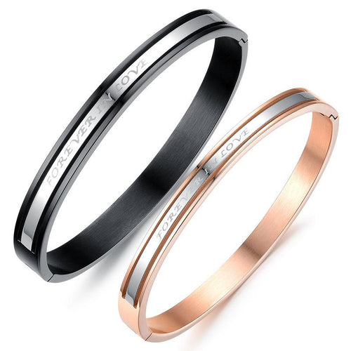 Forever Love Plating Stainless Steel Couple Bracelets - KINGEOUS