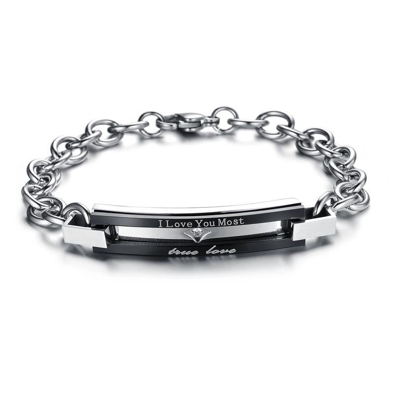 I Love You Most Love is Best Plating Couple Bracelets - KINGEOUS