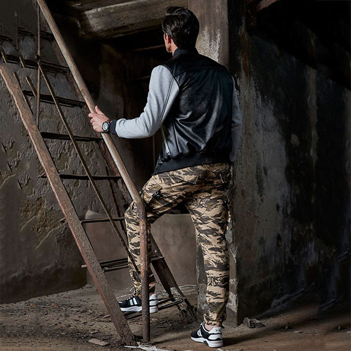 Camo Multi-Pocket Outdoor Military Tactical Men's Pants - KINGEOUS