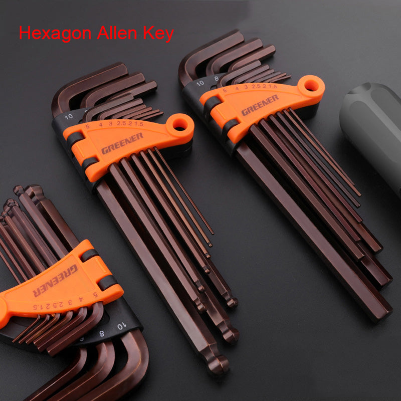 9pcs Hexagon Allen Key Tools Set Chrome Ball End Tool Kit