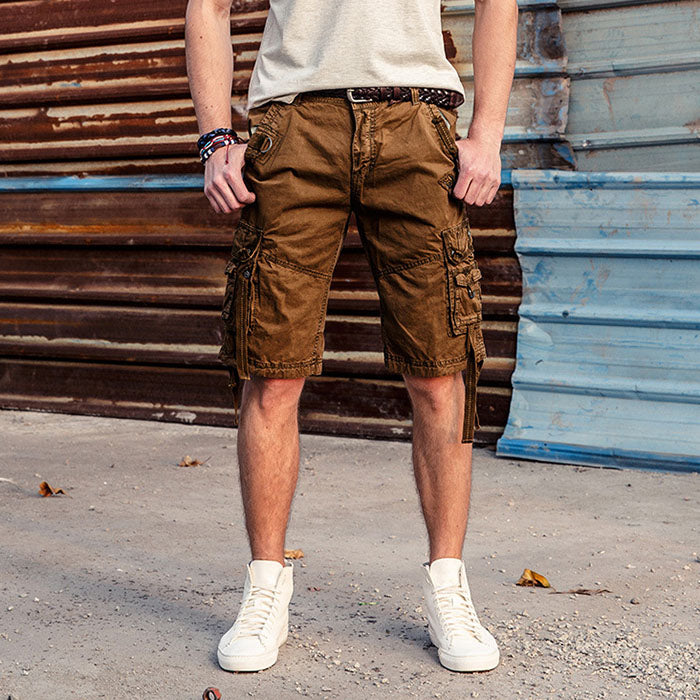 High Quality Multi Pockets Outdoor Men Cargo Shorts
