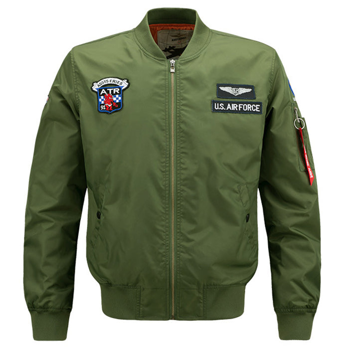 Plus Size Military Style Standing Collar Men's Jacket