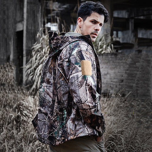 Lurker Shark Skin Soft Shell Waterproof Windproof Warm Camo Jacket
