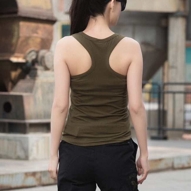 Backless Pure Cotton Slim Women Vest - KINGEOUS