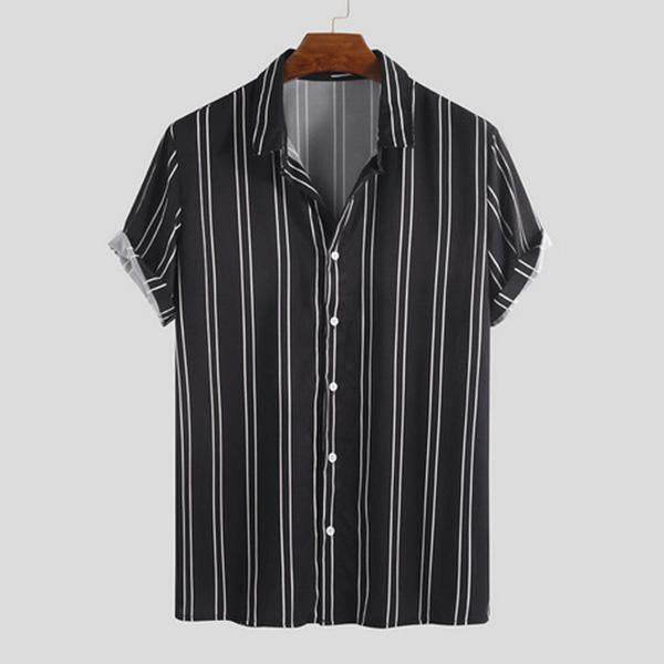 Holiday Stripes Printed Summer Casual Men's Shirt